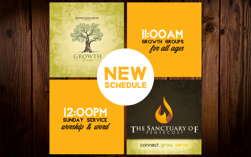 NEW SUNDAY SERVICE SCHEDULE